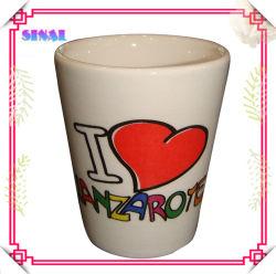 Белой керамической Shot для Сувенирный магазин подарков