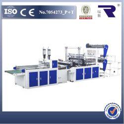 Double couche Dfq--800 quatre lignes automatique/LDPE PEHD T-Shirt Sac Making Machine