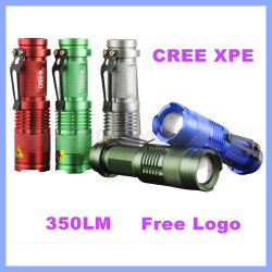 Torcia elettrica di alluminio di emergenza di modo LED dello zoom del CREE XPE 3