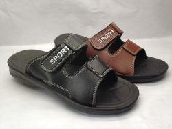 Os homens de couro PU sandálias de praia Sport Deslize Calçados Sândalo