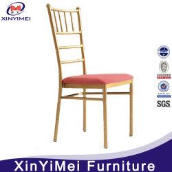 Partie utilisée de l'événement de l'or Chiavari chaise avec coussin pour la vente