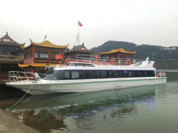 Plattform-Luxuxpartei-Hochzeits-Passagier-Boot des 67FT Fiberglas-zwei
