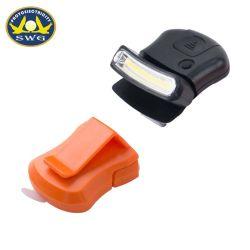 LEDのポータブルライト工場はプラスチッククリップ穂軸の帽子ライト穂軸クリップ帽子ランプを提供する