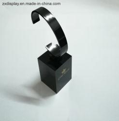 Elegante schwarze Acryluhr-Bildschirmanzeige mit Unterseite für Uhr-Speicher