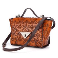 Neue Entwurfs-gute Qualitätsweinlese-Art-realer Kuh-Leder-Dame-Handtaschen-Form-Frauen-Fonds