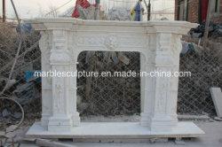 Lado de venda quente para entalhar a escultura de pedra lareira de mármore (SY-MF257)