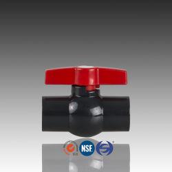 Kogelklep van pvc van de Norm van ISO van DIN ASTM de Compacte