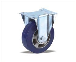 Núcleo de Ferro alumínio Soild roda de borracha com cubo de plástico