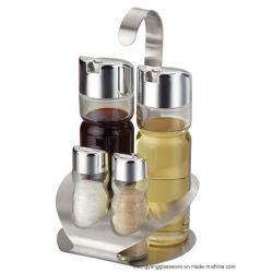 Набор из 5 Стеклянная бутылка Spice Spice стекла баночек с подставкой для кухонных