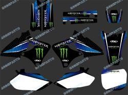 Leistung 0284 New Style Team Graphics&Backgrounds Decals Stickers Kits für 4 Strokes Yz250f Yz400f Yz426f Yzf 1999 2000 2001 2002