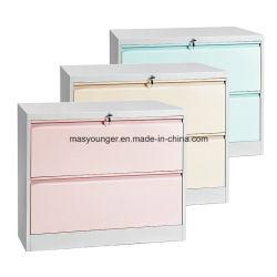 Elegante cabinet in acciaio con rivestimento laterale per ufficio in metallo a sospensione completa Cartelle di file di visualizzazione o interne