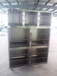 Gabbia animale dell'animale domestico della gabbia dell'ospedale di alta qualità di Medicalstainless di animale domestico dell'uccello d'acciaio veterinario del cane