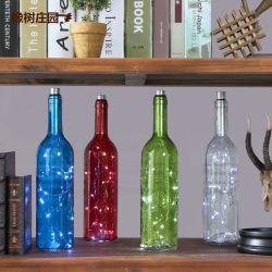 Botella de vino de vidrio de colores para la decoración del hogar (Color personalizado acceptale)