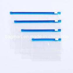 파란색 슬라이더 트랙, 컬러 트랙 슬라이더 백이 있는 지퍼백
