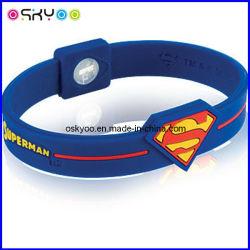 Holograma de Energia Energia pulseiras personalizadas pulseiras Super-Homem (OEM/ODM)