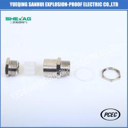 Система Iecex и ATEX Ex техники безопасности для подрядчиков увеличилось металлический кабельный сальник