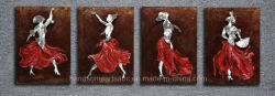 Dancing Hot Lady Relievo Mur 3D'aluminium pour la maison de Peinture décoration d'huile