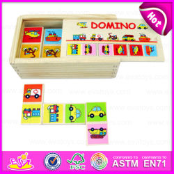 2015 Wooden Toy Domino Kids、Education Domino Puzzle Game Set、Christmas Gift Wooden Domino Puzzle Toy W15A003のための新しく、Popular