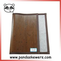 À la main de tapis de plancher de la qualité de bambou avec Non-Woven estimé