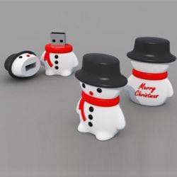 Heet verkoop de Flits van de Vorm USB van de Sneeuwman van de Aandrijving van de Gift USB van Kerstmis