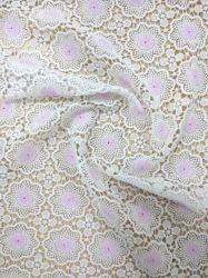 Мода Водорастворимые вышивка белым текстильной одежды хлопка кружевной ткани