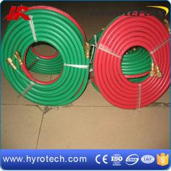 La norme ISO 3821 de l'oxygène et l'Acétylène Flexible flexible double soudure rouge+vert