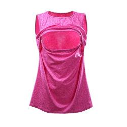 Kundenspezifische Sleeveless Baumwolle kundenspezifisches stillendes T-Shirt