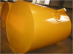 Boa di attracco strutturata acciaio, boa cilindrica