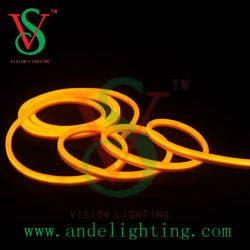 مصابيح LED باللون البرتقالي النيون المرنة لأضواء عيد الميلاد