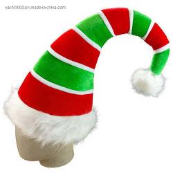 Décoration de Noël adulte de gros Hat Long de Noël en peluche Elf Hat