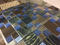 Mélange de verre Mosaïque en acier inoxydable