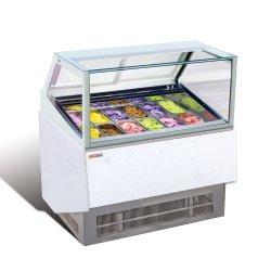 12 de gama alta de la bandeja de sistema de refrigeración Helados gabinete