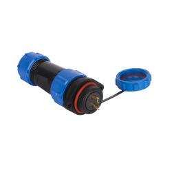 Connecteur circulaire en plastique filetés industriels