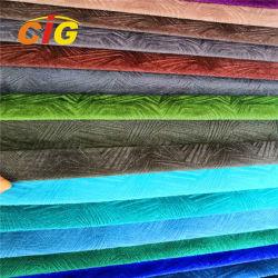 O uso de mobiliário material poliéster super macio tecido de veludo