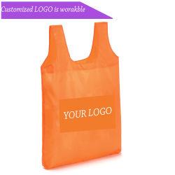 Polyester-grosse Datenträger-Weste-weich mehrfachverwendbare gefaltete Einkaufstasche (AKB003)