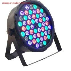 DMX iluminação de palco 54X1w LED plana luz PAR