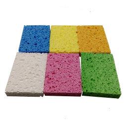Nettoyage écologique d'impression personnalisé Face colorée en tissu éponge en cellulose