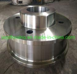 Q345 S355JR pesado de acero forjado el cubo de rueda
