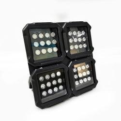 مصابيح الإضاءة الخارجية الحائزة على براءة اختراع IP66 مقاومة للماء بقوة 12 واط بقدرة 24 واط، 48 واط، تحكم في كاميرا DMX512، إضاءة LED ملونة باللون الأحمر والأخضر والأزرق (RGB)
