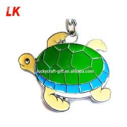 Kundenspezifisches Entwerfer-Metalltierlink-Form-Fisch-SchildkröteAnime 3D Keychain