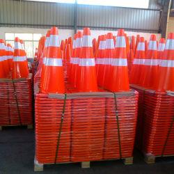 """28 """" Equipamentos de segurança refletiva flexível PVC Cone do tráfego de Segurança Rodoviária"""