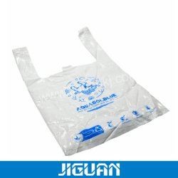 Beutel der Kundenbezogenheits-förderndes Geschenk-Handtaschen-annehmen Plastikshirt-faltbare kompostierbare wasserlösliche 100% biodegradierbare Medizin-Verpackungs-Einkaufen-PVA