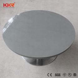 Kingkonree piedra acrílica de superficie sólida sobre la mesa de piedra negra de comedor