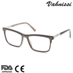 Flexible de alta calidad de acabados de madera el espectáculo de acetato de gafas de óptica del bastidor para Unisex