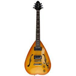 Flamme-Ahornholz-Oberseite-halb Höhlung-Karosserien-elektrische Gitarren