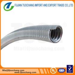Étanche aux liquides en métal flexible conduit avec couvercle gris en PVC