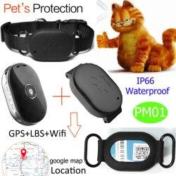 Neuer kleiner wasserdichter Haustiere GPS-Verfolger mit Muffen-mehrfacher Funktion Pm01