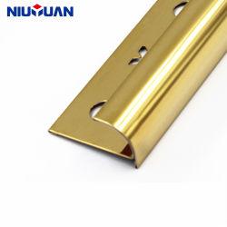 Niu Yuan fabricante OEM Guarnecido de baldosas de acero inoxidable Oro