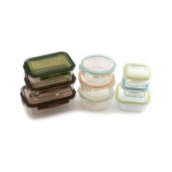 Il contenitore di memoria di vetro della serratura della clip cereale/dell'alimento con BPA libera il commercio all'ingrosso del coperchio con FDA