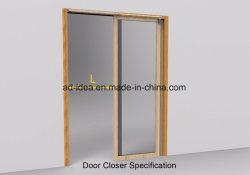portello scorrevole dell'interno di legno solido 46inch per il chiudiporta automatico celato/chiudiporta automatico semiautomatico